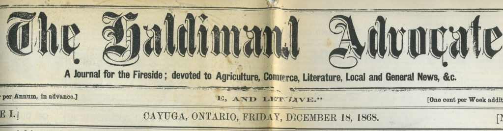 The Haldimand Advocate