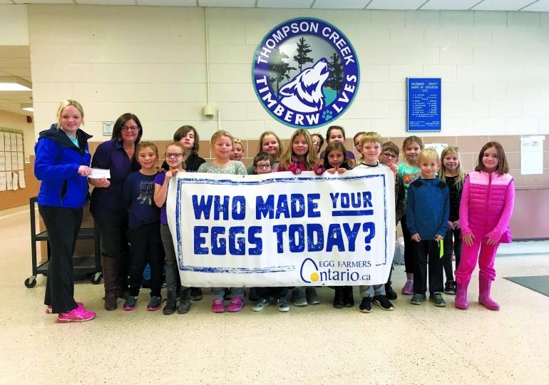 Thompson Creek breakfast program receives funding from egg farmers