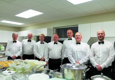 York Maranatha deacons serve up turkey dinner  for senior congregation members