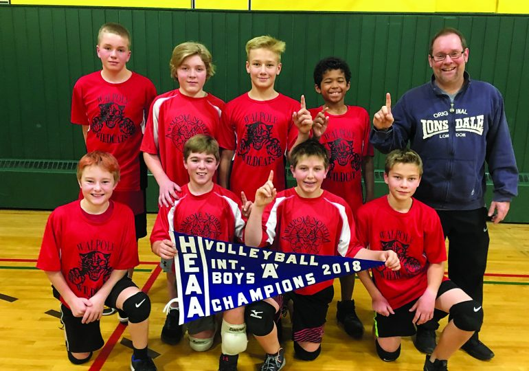 Walpole North comes out on top in intermediate boys volleyball tournament