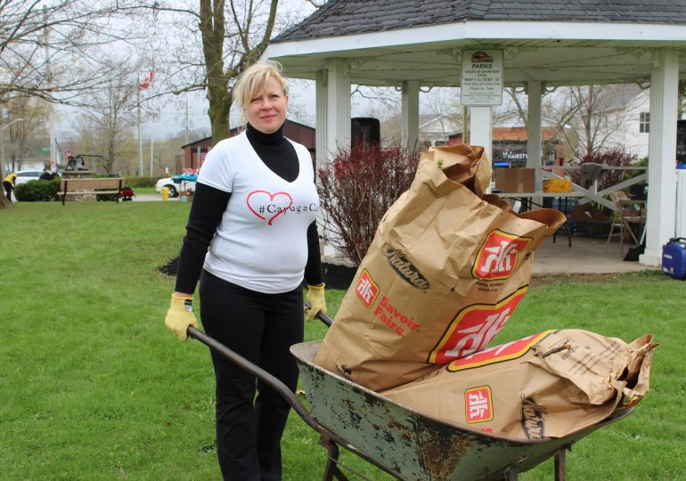 Volunteers come together to clean up Cayuga