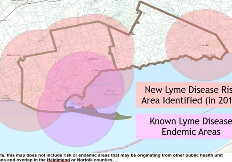 Lyme disease risk area spreads into Haldimand: Rates of West Nile also up