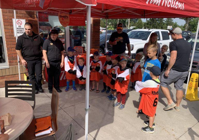 Kids receive first jersey