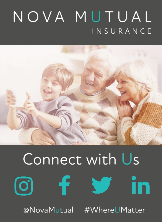 Nova Mutual Insurance - Connect With Us on Social Media