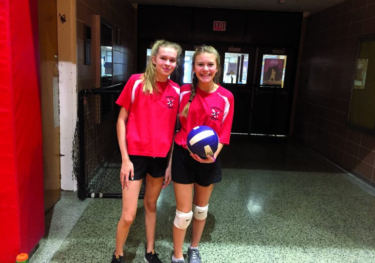 Haldimand girls compete in intermediate volleyball