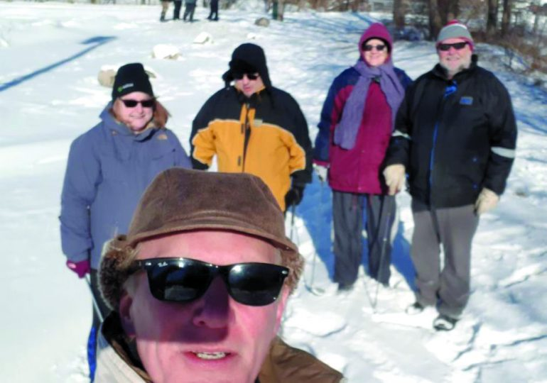 Dunnville Optimist Club chips through snow for a chilly game of golf