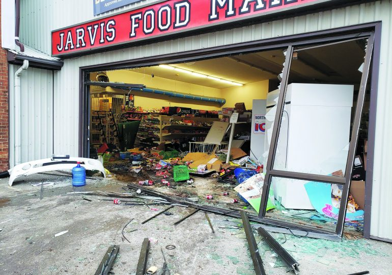 Thieves use vehicle to smash into Jarvis business in failed ATM theft