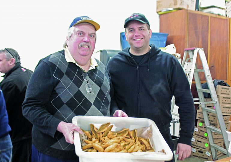 Firefighter fundraiser fries up fish in Canborough