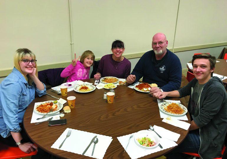Serving spaghetti in Selkirk