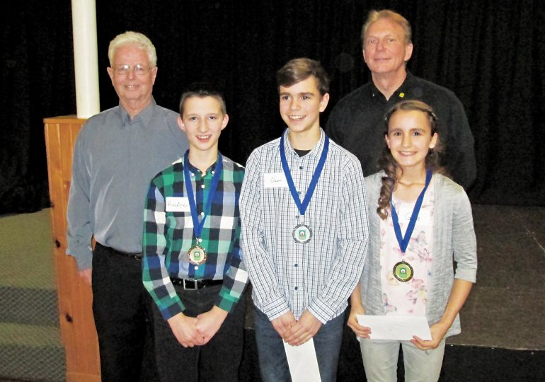 Youth gain public speaking experience in oratorical contest