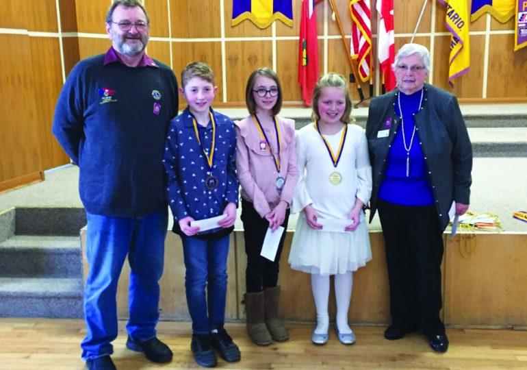 Hagersville Lions host public speaking contest