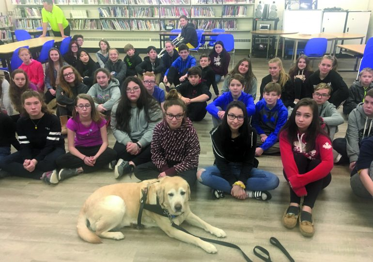 Dog guide visits local school