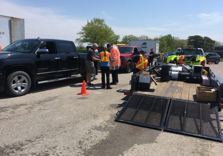 County hosts hazardous, e-waste collection event