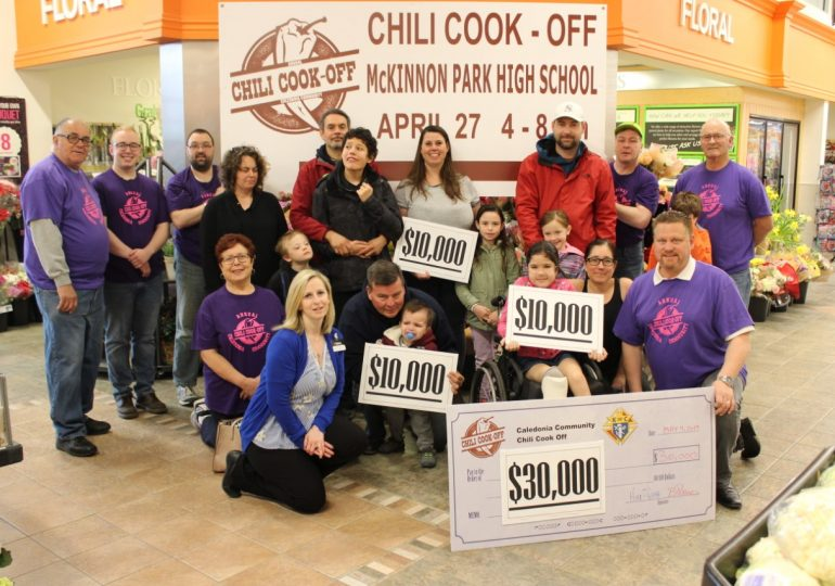 Caledonia Knights of Columbus give $30,000 to local families in need