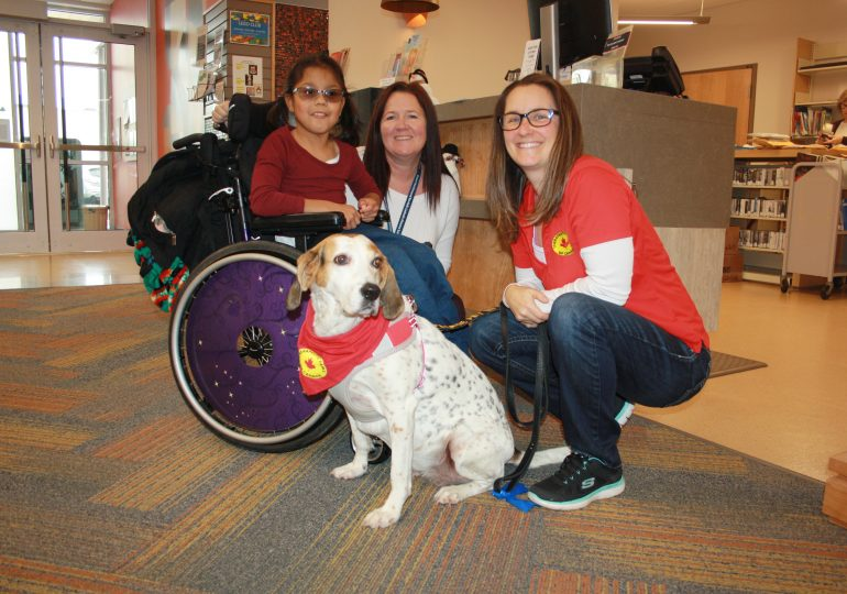 Therapeutic Paws making regular appearances at Cayuga Library