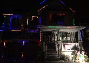 Sharing the Christmas spirit: Residential light show dances to three Christmas songs