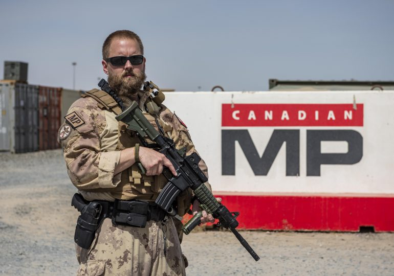 Military Policeman from Dunnville serving in Middle East