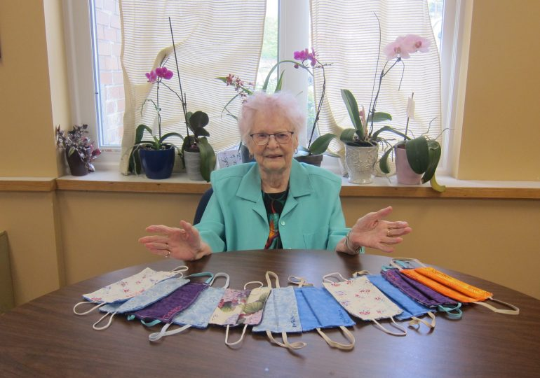 90-year-old from Caledonia making masks in BC