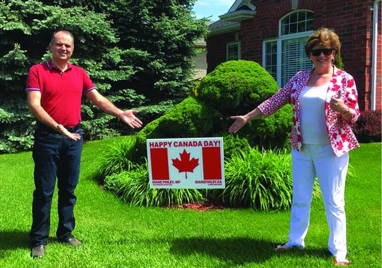 MP Finley creates special sign program for Canada Day