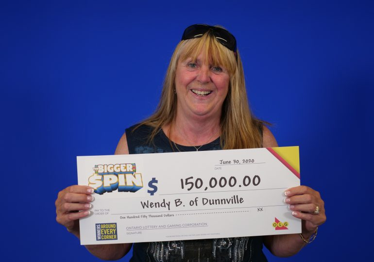 Dunnville housekeeper celebrates $150,000 win