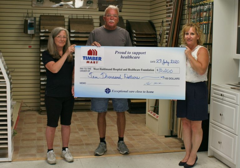 WHHHF receives $10,000 donation from local business
