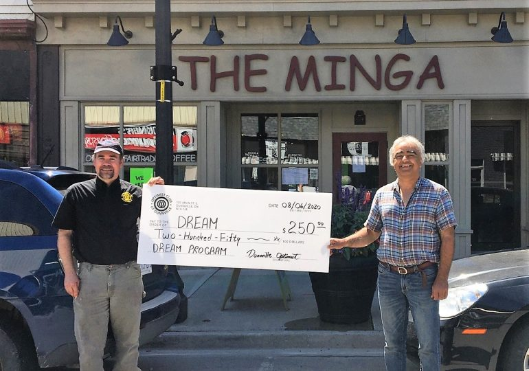 Optimists Re-iMagine fundraising Group makes donation to DREAM