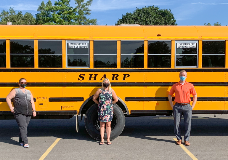 School buses are lighting the way for safety as students return