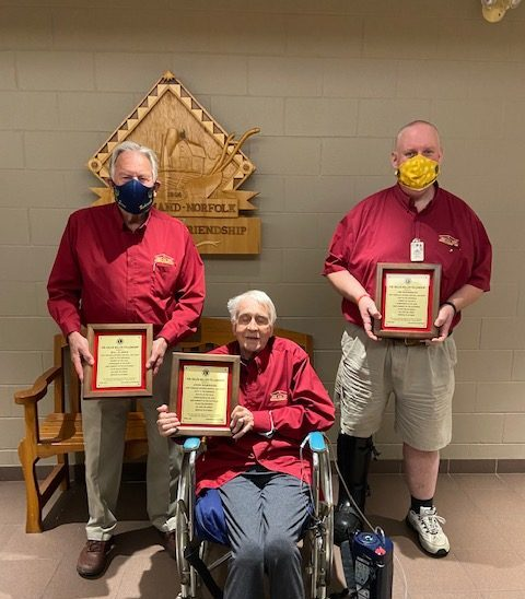 Three Fisherville Lions honoured with prestigious award