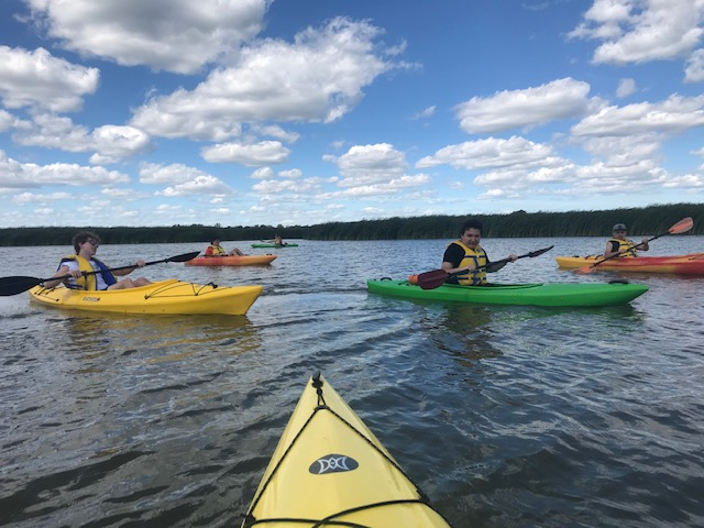 Hungarian scouting group tours the Grand River by kayak