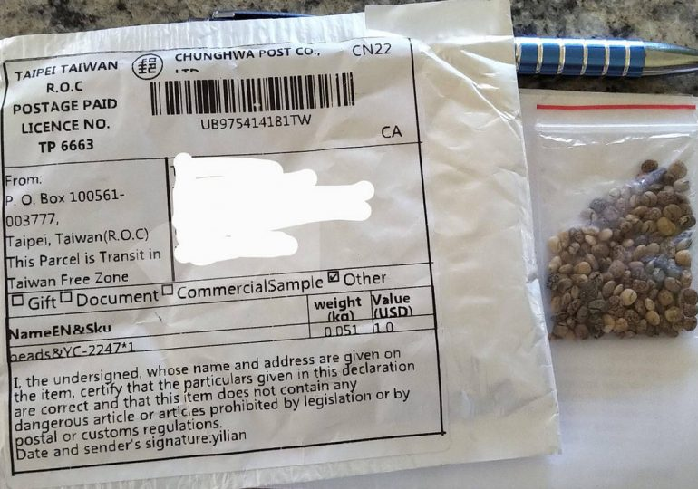 Canadians receive mystery seeds