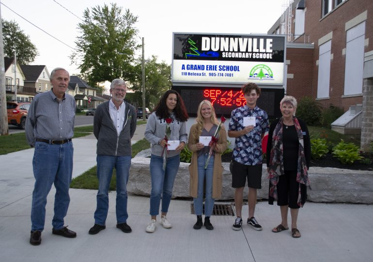 Dunnville Rotary supports DSS students with bursaries