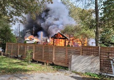 Detached garage destroyed by fire in Dunnville