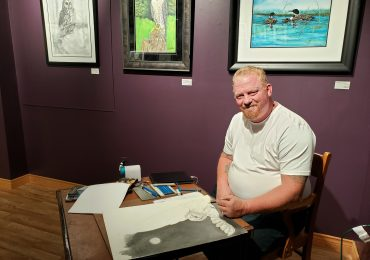 Artist Fred Bulbeck's exhibition on display at Edinburgh Square