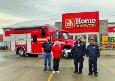 Cayuga Home Hardware employee raises over $2,000 for Cayuga Fire Station #4