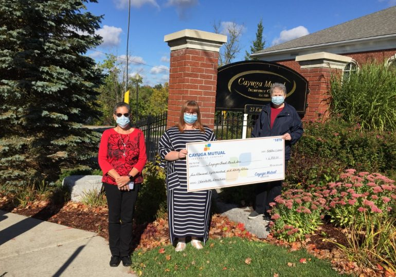 Cayuga Mutual donates $41,000 to local not-for-profit organizations