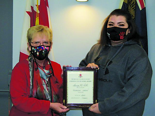 Hagersville Legion,Aux. provides student bursary