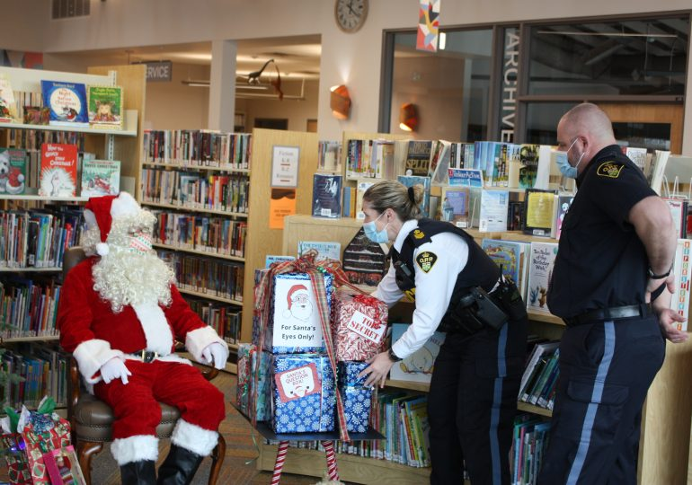 Santa visits Cayuga library for questions, stories