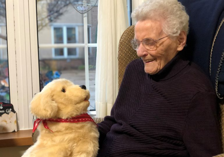 Edgewater Garden residents find comfort with robotic pets