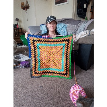 Pass me a Guinness World Record please! Dunnville woman aims to beat record for size of crocheted granny square