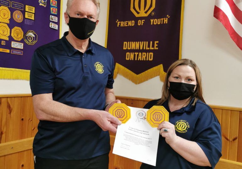 Dunnville Optimists take top awards