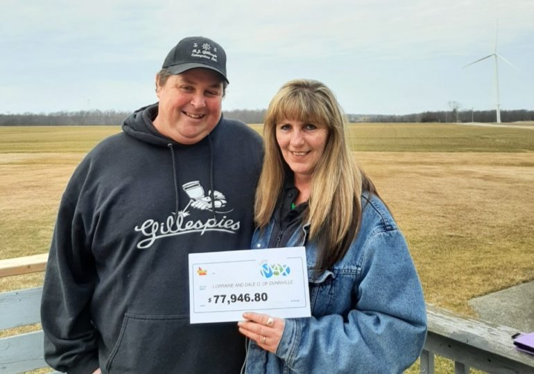 Dunnville couple's dreams are now dreamier with a $77,946 Lotto Max win