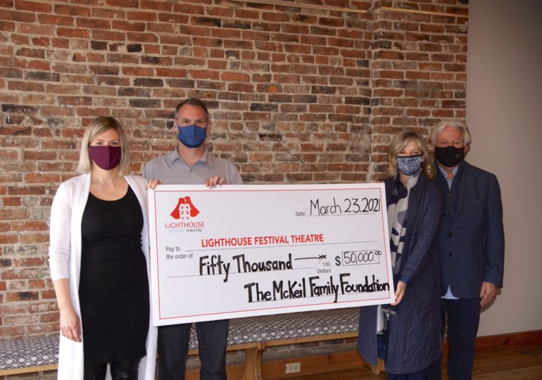 Lighthouse Festival Theatre receives $50,000 donation