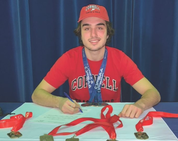 Caledonia student accepts track and field scholarship to Cornell University