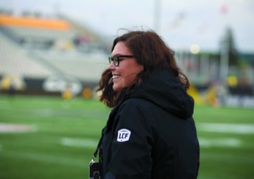 From sports fan to sports journalist: Cayuga's Kristina Costabile finds dream job with the CFL