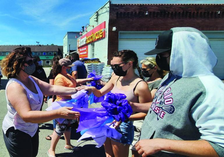 Hagersville rallies for Purple Ribbon Campaign in memory of Alex Dalton