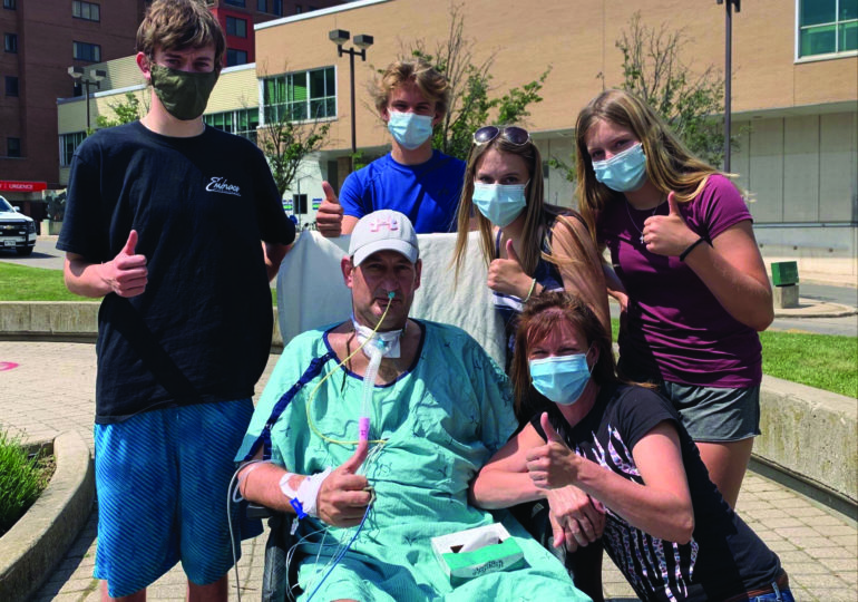 Mike VanNetten reunites with kids for first time in almost two months following COVID-19 fight