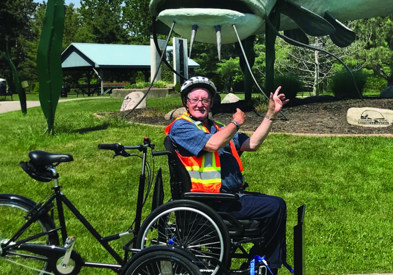 Edgewater Gardens  residents cruise around Dunnville in style