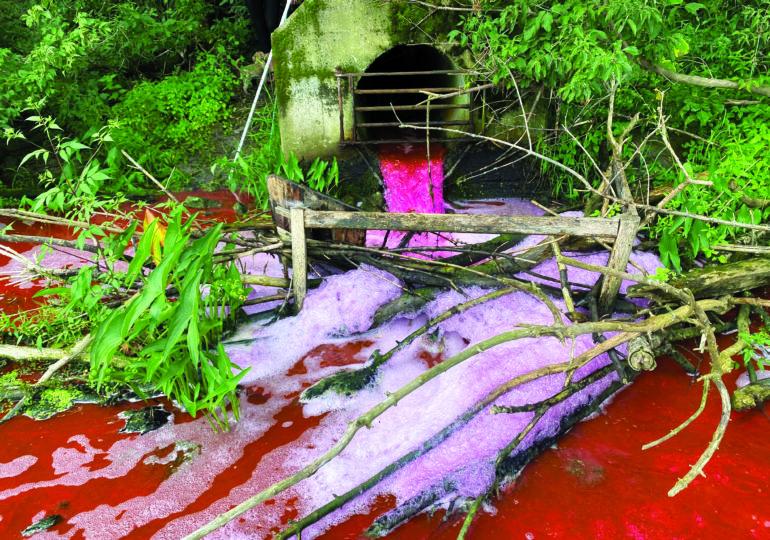 Environmentally friendly dye informs County staff