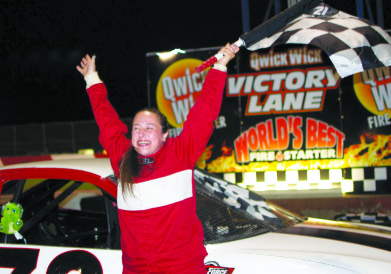 Stock car racing rookie takes the  lead in the conversation about  mental health off the track