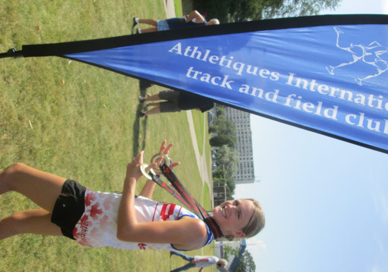 Local track and field athlete brings home four medals